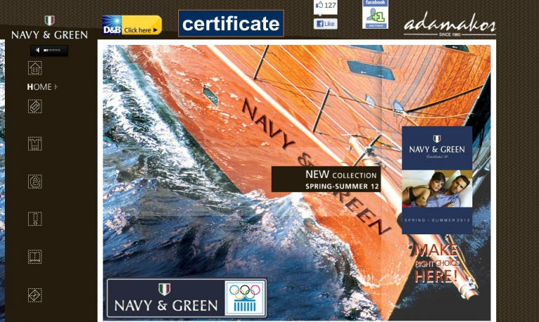 loud web communications navy & green